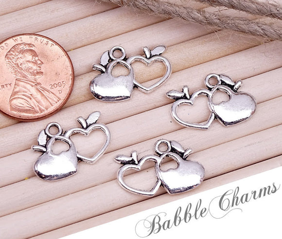 12 pc Apple charm, apple, fruit charm, Charms, wholesale charm, alloy charm