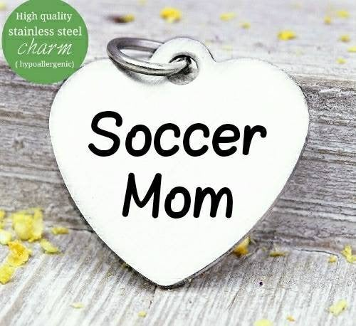 Soccer mom, Soccer , Soccer charm, mom charm, sports, steel charm 20mm very high quality..Perfect for jewery making and other DIY projects