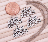 12 pc Camp rocks, Camp rocks charm, camp. camping charm, Charms, wholesale charm, alloy charm