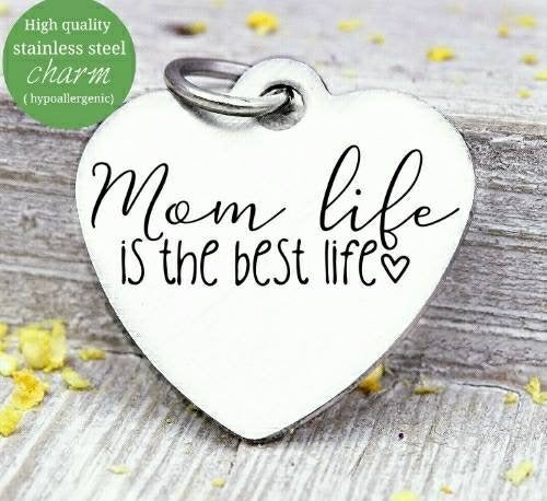 Mom life, mom charm, mother, coffee, mama, mommy, mom charms, Steel charm 20mm very high quality..Perfect for DIY projects