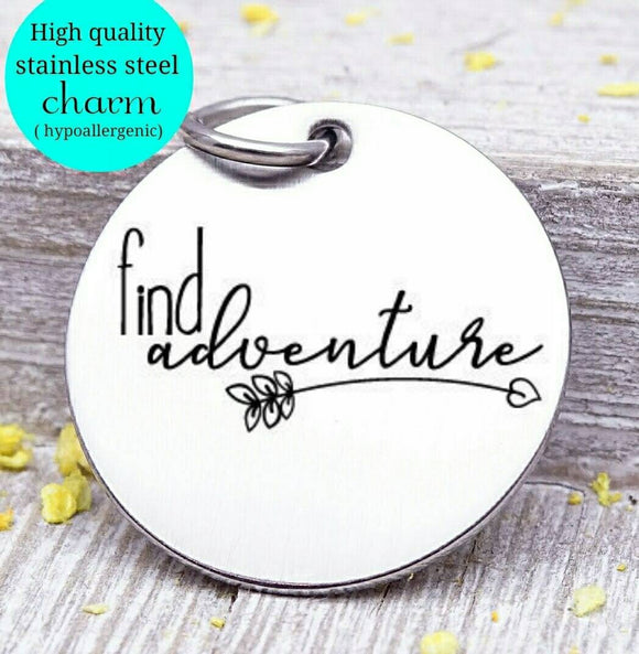 Find Adventure, adventure, adventure charms, Steel charm 20mm very high quality..Perfect for DIY projects