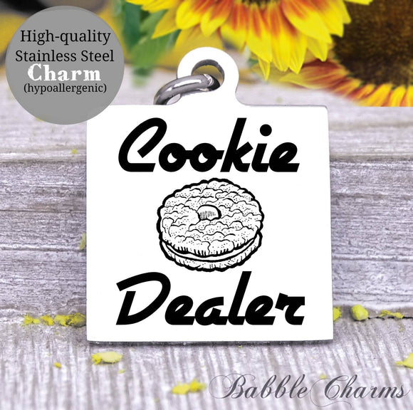 Cookie dealer, cookies, cookie charm, Steel charm 20mm very high quality..Perfect for DIY projects