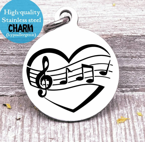 Music charm, music, treble clef, music charms, Steel charm 20mm very high quality..Perfect for DIY projects