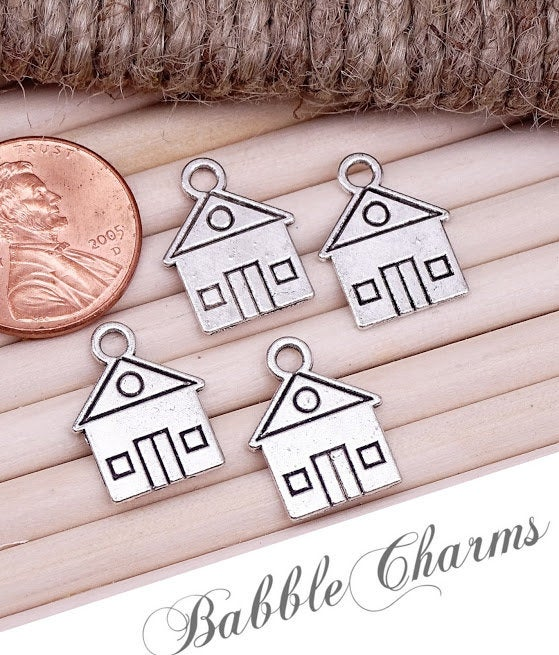 12 pc House charm, house, house, Charms, wholesale charm, alloy charm