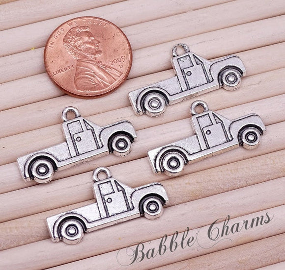 12 pc Truck charm, truck, pickup truck, Charms, wholesale charm, alloy charm