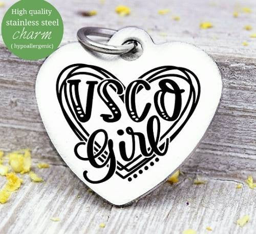 VSCO girl, VSCO charm, charm, Steel charm 20mm very high quality..Perfect for DIY projects