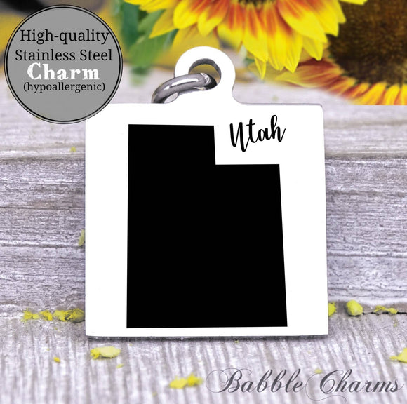 Utah charm, Utah, state, state charm, high quality..Perfect for DIY projects