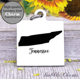 Tennessee charm, Tennessee, state, state charm, high quality..Perfect for DIY projects