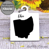 Ohio charm, Ohio, state, state charm, high quality..Perfect for DIY projects