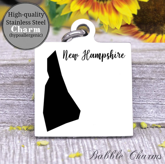 New Hampshire charm, New Hampshire, state, state charm, high quality..Perfect for DIY projects