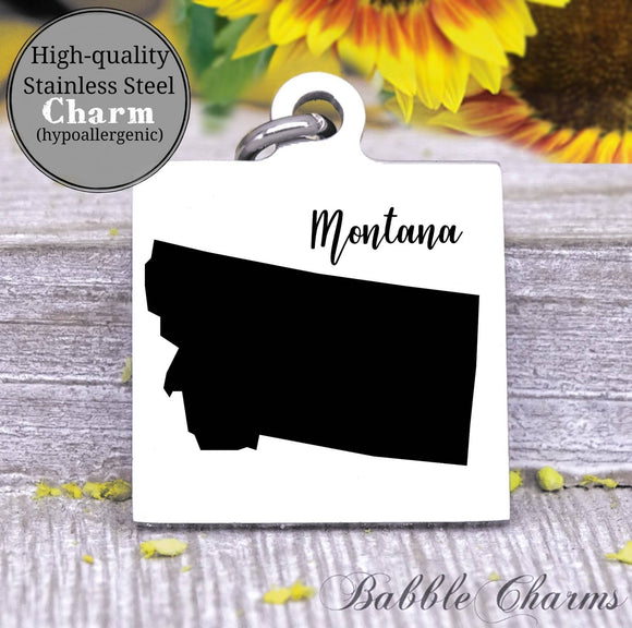 Montana charm, Montana, state, state charm, high quality..Perfect for DIY projects