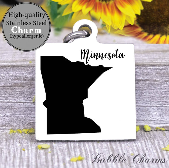 Minnesota charm, Minnesota, state, state charm, high quality..Perfect for DIY projects