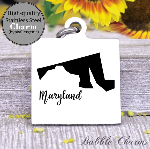 Maryland charm, Maryland, state, state charm, high quality..Perfect for DIY projects