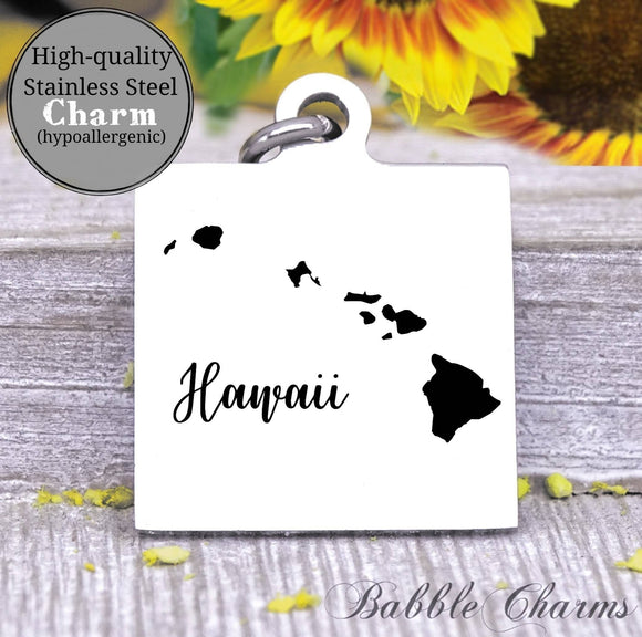 Hawaii charm, Hawaii, state, state charm, high quality..Perfect for DIY projects