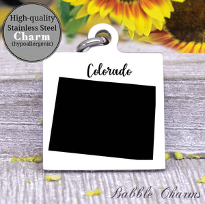 Colorado charm, Colorado, state, state charm, high quality..Perfect for DIY projects