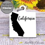 California charm, California, state, state charm, high quality..Perfect for DIY projects