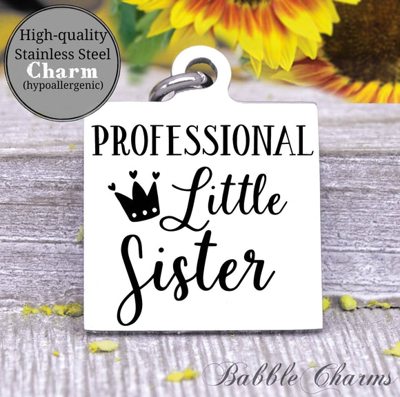 Professional little sister, little sister, sister, sister charm, charm, Steel charm 20mm very high quality..Perfect for DIY projects