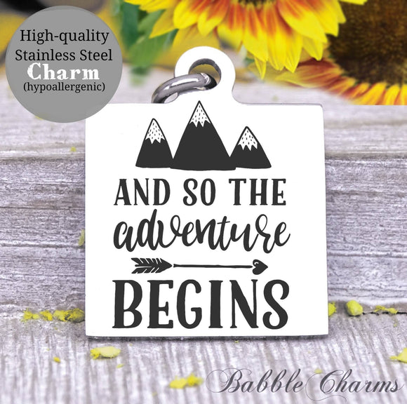And so the Adventure begins, adventure charm, Steel charm 20mm very high quality..Perfect for DIY projects