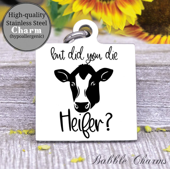 But did you die, heifer harm, cow, cow charm, Steel charm 20mm very high quality..Perfect for DIY projects