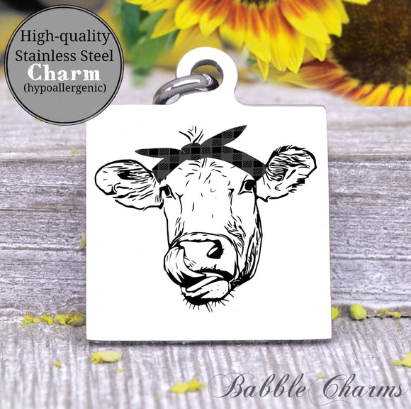 Cow, heifer harm, cow, cow charm, Steel charm 20mm very high quality..Perfect for DIY projects
