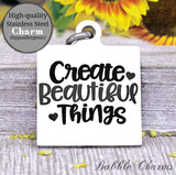 Create beautiful things, born to craft, craft charm, Steel charm 20mm very high quality..Perfect for DIY projects