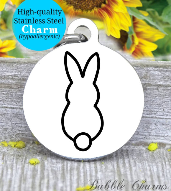 Easter bunny, bunny, easter charm, Steel charm 20mm very high quality..Perfect for DIY projects