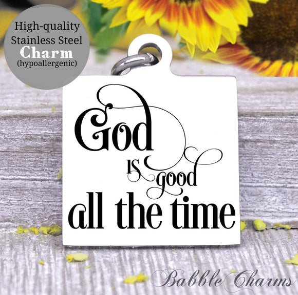 God is good, jesus, God, God charm, Jesus charm, Steel charm 20mm very high quality..Perfect for DIY projects