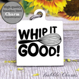Whip it food, whip it, whip it charm, kitchen, kitchen charm, cooking charm, Steel charm 20mm very high quality..Perfect for DIY projects
