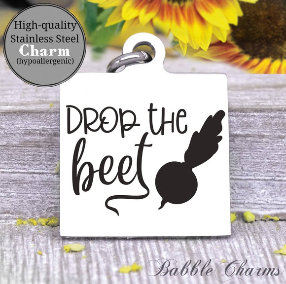 Drop the beet, drop the beat, kitchen, kitchen charm, cooking charm, Steel charm 20mm very high quality..Perfect for DIY projects