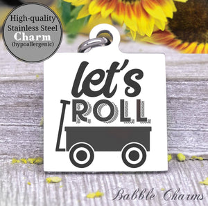 Toddler life, toddler, wagon, kid charm, baby charm, wild charm, Steel charm 20mm very high quality..Perfect for DIY projects