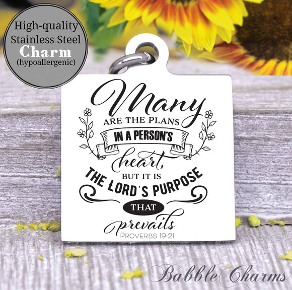 The Lords purpose, Lords purpose charm, Steel charm 20mm very high quality..Perfect for DIY projects