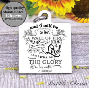 God will strengthen her, she is strong charm, Steel charm 20mm very high quality..Perfect for DIY projects