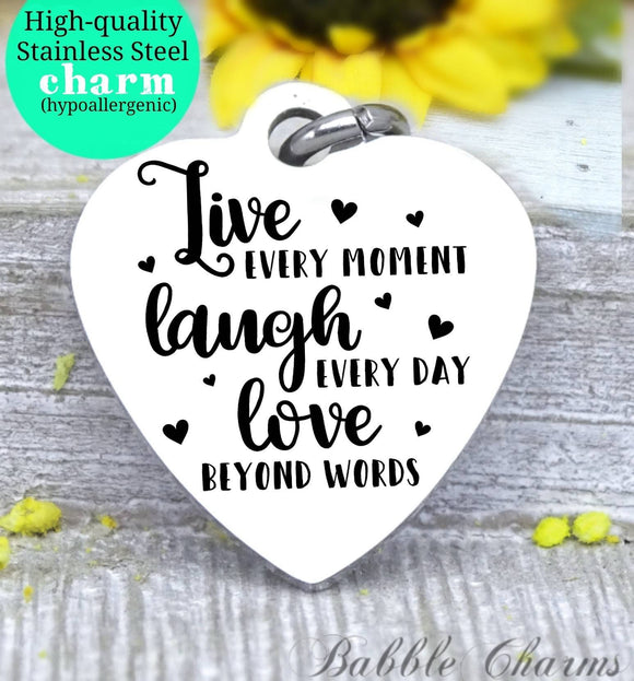 Live laugh love, live laugh love charm, family charm, charm, Steel charm 20mm very high quality..Perfect for DIY projects