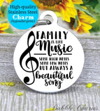 Family is like music, music charm, family charm, charm, Steel charm 20mm very high quality..Perfect for DIY projects