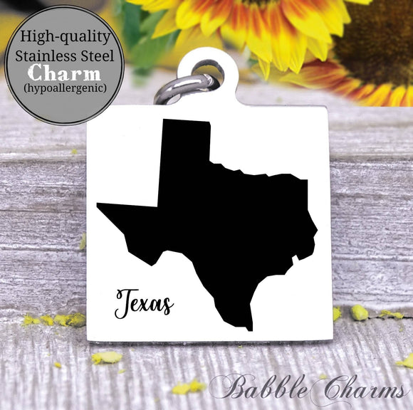 Texas charm, Texas, state, state charm, high quality..Perfect for DIY projects