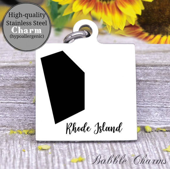 Rhode Island charm, Rhode Island, state, state charm, high quality..Perfect for DIY projects