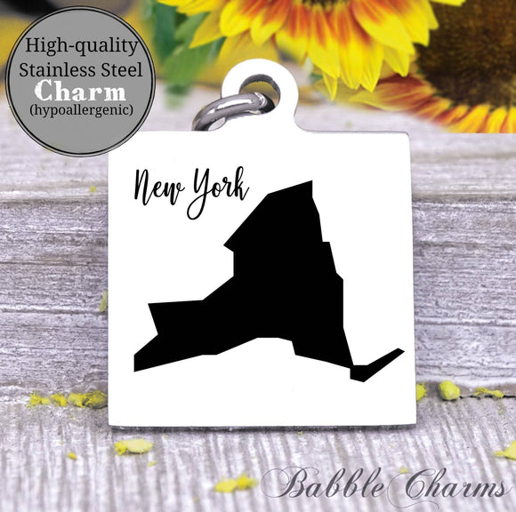 New York charm, New York, state, state charm, high quality..Perfect for DIY projects
