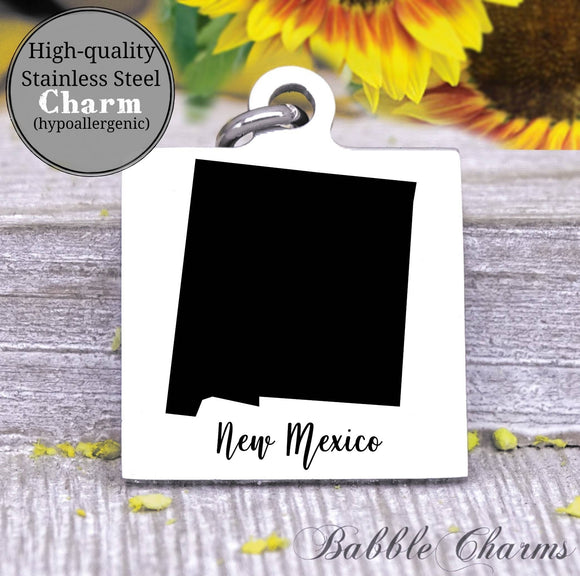 New Mexico charm, New Mexico, state, state charm, high quality..Perfect for DIY projects