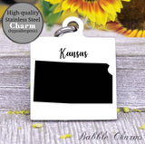 Kansas, Kansas charm, high quality..Perfect for DIY projects
