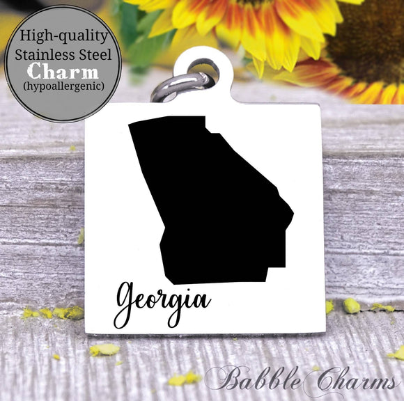 Georgia charm, Georgia, state, state charm, high quality..Perfect for DIY projects