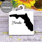 Florida charm, Florida, state, state charm, high quality..Perfect for DIY projects