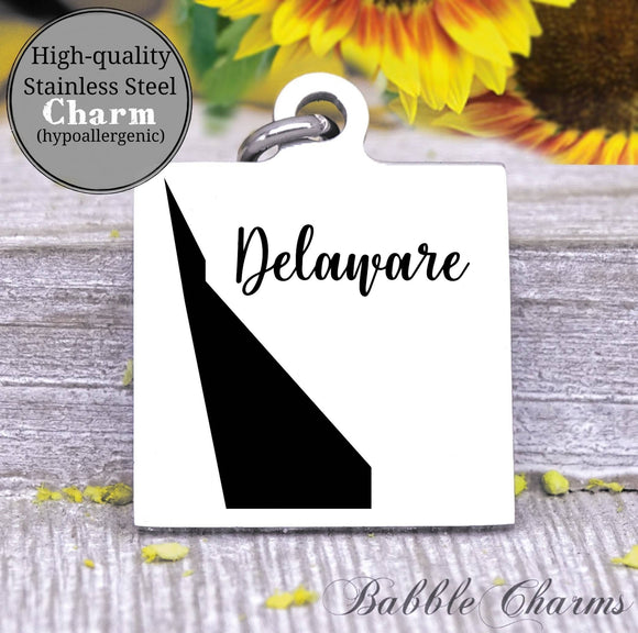 Delaware charm, Delaware, state, state charm, high quality..Perfect for DIY projects