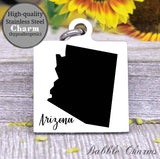 Arizona charm, Arizona, state, state charm, high quality..Perfect for DIY projects
