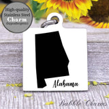 Alabama charm, Alabama, state, state charm, high quality..Perfect for DIY projects