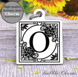 Alphabet charm, Letter O, Alphabet, initial charm, Steel charm 20mm very high quality..Perfect for DIY projects