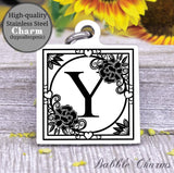 Alphabet charm, Letter Y, Alphabet, initial charm, Steel charm 20mm very high quality..Perfect for DIY projects