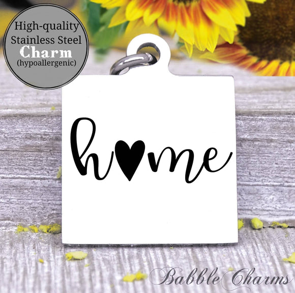 Home, home charm charm, Steel charm 20mm very high quality..Perfect for DIY projects