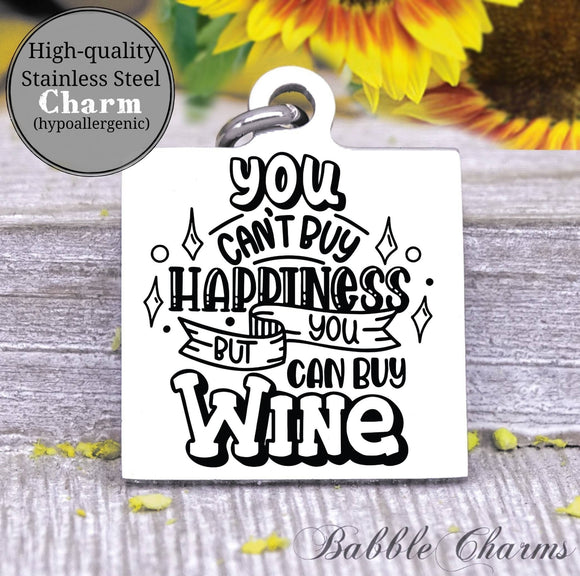 You can but me wine, wine, wine charm, Steel charm 20mm very high quality..Perfect for DIY projects