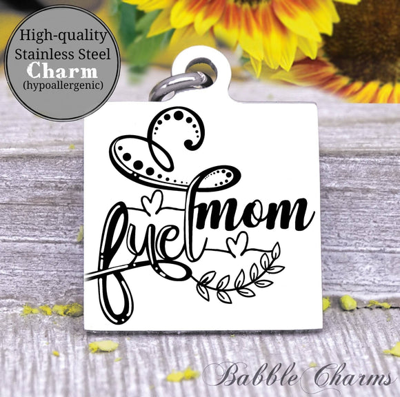 Mom fuel, mom fuel charm, wine, wine charm, Steel charm 20mm very high quality..Perfect for DIY projects
