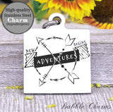 New Adventures, new adventure, adventure charm, Steel charm 20mm very high quality..Perfect for DIY projects